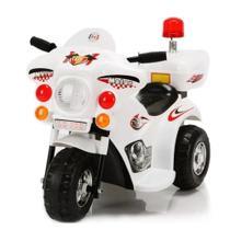 Triciclo Mini Moto Elétrica Motorizada Infantil Pop Branca - Baby Style -