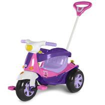 Triciclo Motoca Elétrica Infantil Calesita Velotri Rosa Com Pedal -