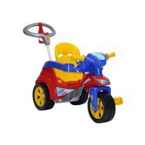 Triciclo Motoca Infantil Baby Trike Evolution Colorido Com Empurrador Biemme -