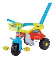 Triciclo Motoca Infantil Bebê Festa Azul Magic Toys -