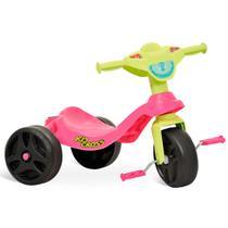 Triciclo Motoca Infantil Kid Cross Rosa Bandeirante -