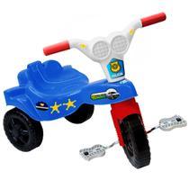 Triciclo Motoca Infantil Menino Policial Azul - Kepler -