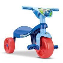 Triciclo Motoca Infantil Menino Smurfs Azul - Samba Toys -
