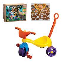 Triciclo Motoca Infantil Tchuco Zoo Com Haste Samba Toys - Samba Boys