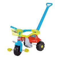 Triciclo Motoca Infantil Tico Tico Velotrol Pedal Cesta Azul - Magic Toys