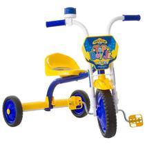 Triciclo Motoca Para Menino Top Boy Jr Ultra Bikes Amarelo Azul -