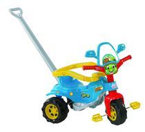Triciclo Motoca Tico Tico Dino AZUL com Aro Haste  Magic Toys -