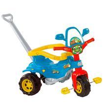 Triciclo Motoca Tico-tico Dino Azul Magic Toys Com Alça -