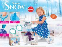 Triciclo Motoca Velotrol Totoka de Brinquedo Infantil Passeio de Menina Tchuco Snow - Samba Toys