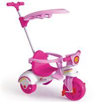 Triciclo Multi Care Girl 3 x 1 com Empurrador - Pedal - Rosa - 7601 - Xalingo -