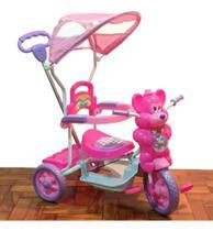 Triciclo Passeio Divertido Ursinho Rosa Dm Toys -