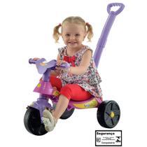 Triciclo Smile Rosa com Empurrador Biemme -