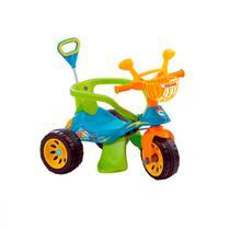 Triciclo Super Cross Azul com Empurrador - Biemme