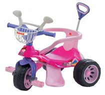 Triciclo Super Cross Rosa com Empurrador Biemme -