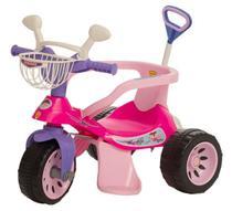 Triciclo Super Cross Rosa com Empurrador - Biemme