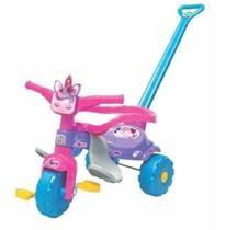 Triciclo Tico Tico Motoca Infantil Unicórnio Uni Love Com Luz, Aro, Haste , Apoio Magic Toys 2570 -