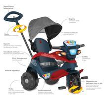 Triciclo Velobaby Pedal Azul Reclinável com Capota Bandeirantes -