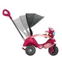 Triciclo Velobaby Reclinável Capota Passeio E Pedal Rosa - Brinquedos Bandeirante