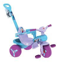 Triciclo Veloban Passeio - Azul e Lilás - Disney Frozen - Bandeirante -