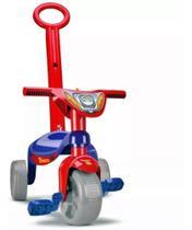 Triciclo Velotrol Herois Motoca Vermelho Velocípede C Haste - Samba Toys