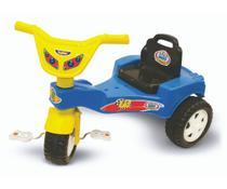 Triciclo Velotrol Infantil  Bebe Motoca Com Assento Regulável Azul - Kepler