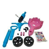 Triciclo Velotrol Infantil Rosa Princesa com Empurrador - Kepler
