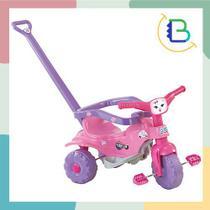 Triciclo Velotrol Infantil Tico-Tico Pets Rosa - Magic Toys