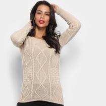 Tricô Fast Glam Suéter Tricot Desenhado Feminino -