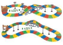 Trilha Maluca Pista com Carrinho 160 blocos montar Braskit -