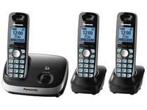 Trio Telefone s/ fio c/ Identificador de Chamadas  - Viva-voz 1.9GHz Panasonic KX-TG6513LBB