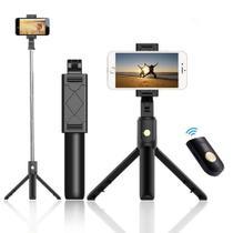 Tripé Celular Bastão de Selfie com inclinação e Controle Remoto 60 centimetros - Iunit