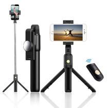Tripé Celular Bastão de Selfie com Inclinação e Controle Remoto 60 centimetros - K10