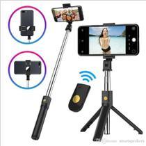Tripé Celular Bastão de Selfie Para Vertical e Horizontal com Bluetooth 60 centimetros - Iunit