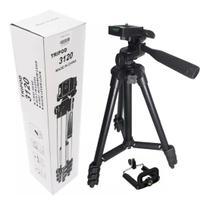 Tripé de Alumínio para Câmera Fotográfica e Celular Profissional Universal 1,0 m - Exclusivo