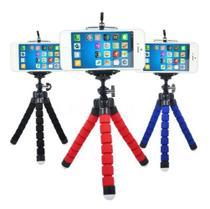 Tripé para Celular Portátil Mini Suporte Flexível Apoio Celular vermelho - Flex Pod