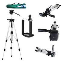Tripe Para Celular Projetores Câmeras Filmadoras Profissional Universal 1,20 metro Acompanha Bolsa Suporte Celular - Xzang