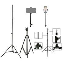 Tripé Profissional 2.1m p/ Câmera Celular E Pedestal + Suporte Celular TL-TP-03-1M Trevalla -