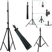 Tripe profissional celular camera 2 metros filmadora 200cm suporte fotografico reforcado retratil - GIMP
