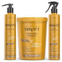 Trivitt Hidrat 1kg+ Cauterização300ml+ Fluido Escova 300ml - Itallian