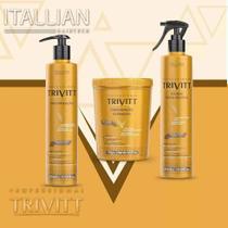 Trivitt - Kit Cauterização 300ml, Hidratação Intensiva 1Kg, Fluido para Escova 300ml -