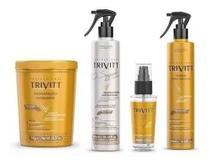 Trivitt Máscara Hidratação Intensiva 1kg+ Segredo Cabeleireiro 300ml+ Reparador De Pontas 30ml+ Fluido Para Escova 300ml - Itallian