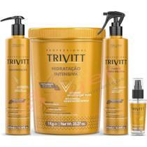 Trivitt Máscara Hidratação Intensiva1kg + Cauterização 300ml + Fluido Escova + Reparador de Pontas - Senscience