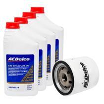 Troca De Oleo 5w30 Semissintético ACDelco + Filtro Original Agile Meriva Celta Corsa Todos Flex - Acdelco Gm