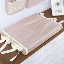Trocador de Fraldas Anatômico para Bebê Plastificado Percal 300 Fios Rosê e Palha - Aime