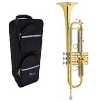 Trompete Eagle Laqueado Tr504 Em Sib + Case Luxo -