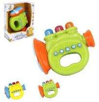 Trompete Infantil Baby Trompete Engracado Colors Com Som E Luz A Pilha Na Caixa Wellkids - Wellmix