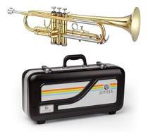 Trompete Jupiter JTR500 Lacquer Série Tribune Sib Laqueado Dourado Bocal + Case -