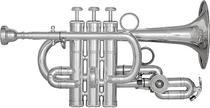 Trompete Piccolo Bb/A - Regency - Laqueado -