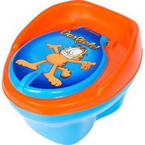 Troninho GARFIELD Infantil Pinico Para Bebe 2 Em 1 Azul/Laranja - Styll Baby -