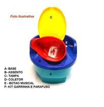 Troninho infantil musical 3 em 1 pinico-redutor e degrauzinho vaso sanitário-love bebê desfralde -